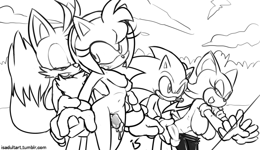 topaz x sonic rouge and Female_on_anthro