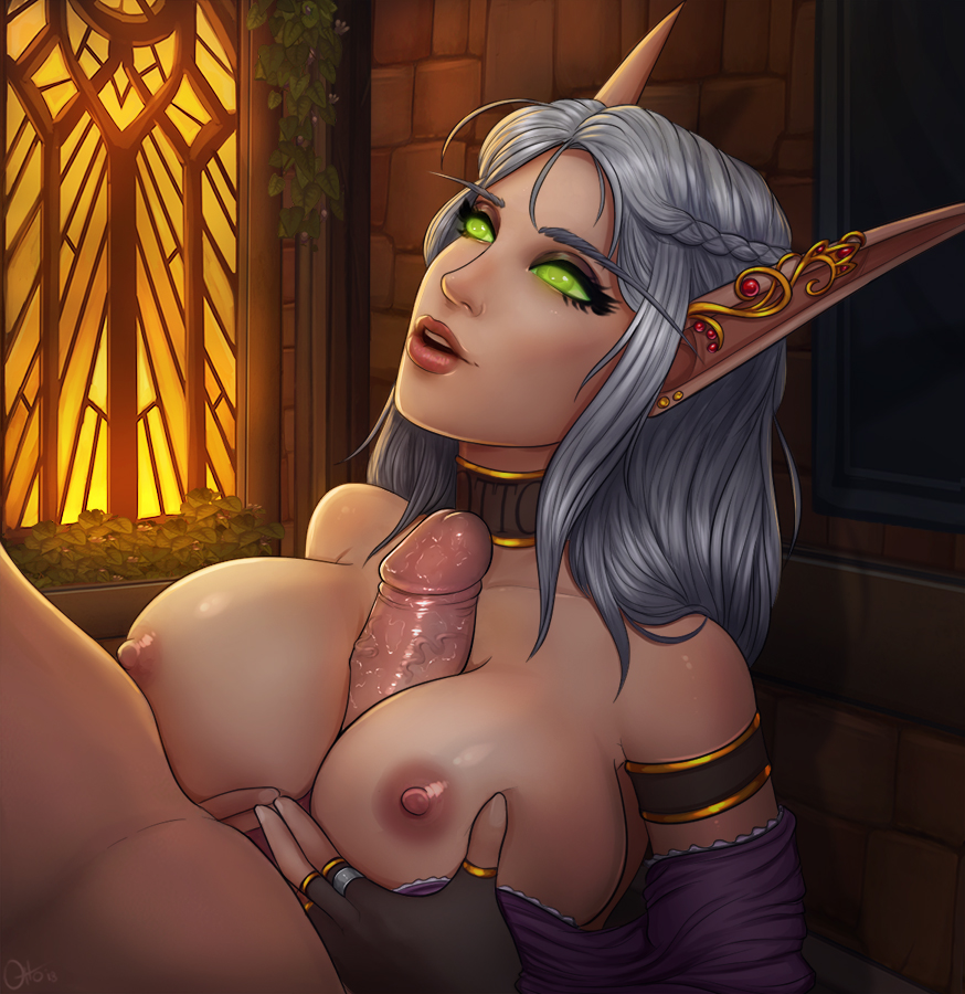 of world porn warcraft elf blood Ookami-san and her seven companions